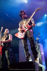 Chris Kael, Jason Hook - Five Finger Death Punch - at Gwinnett Arena, Duluth GA - 11 Oct 2014