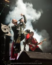 Ivan Moody, Zoltan Bathory - Five Finger Death Punch - at Gwinnett Arena, Duluth GA - 11 Oct 2014