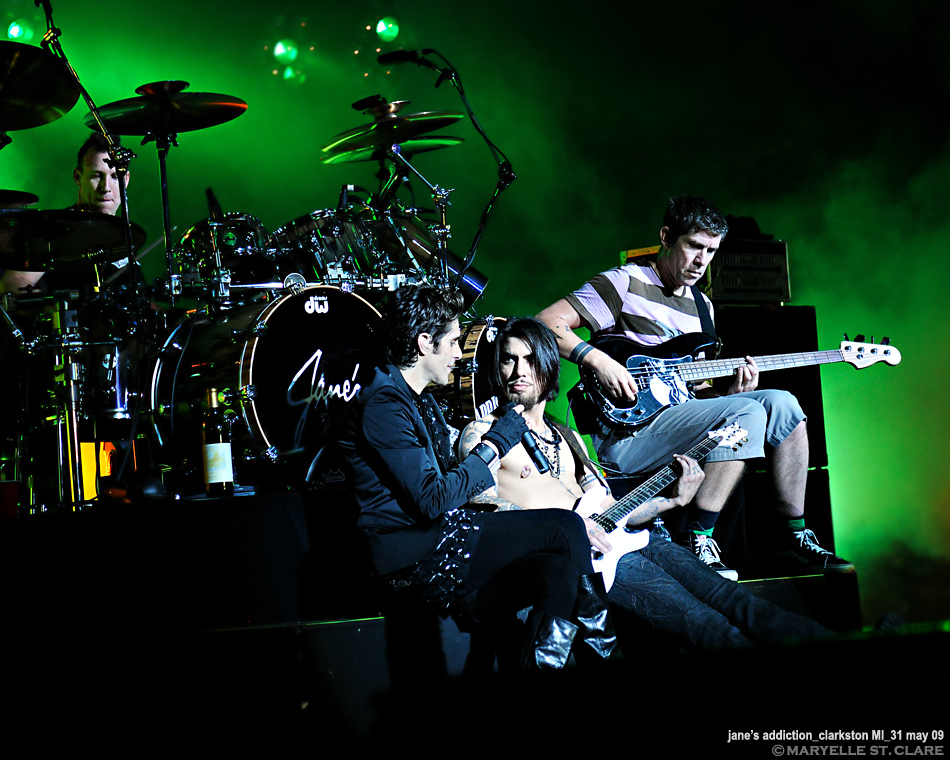 Stephen Perkins, Perry Farrell, Dave Navarro, Eric Avery | Jane's Addiction @ Clarkston MI 31 May 2009