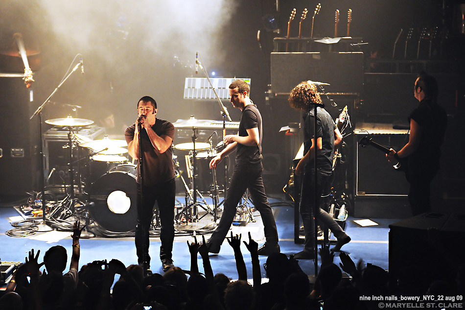 Trent Reznor, Justin Meldal-Johnsen, Ilan Rubin, Robin Finck | Nine Inch Nails @ The Bowery Ballroom, New York City 8/22/09
