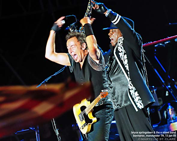 Bruce Springsteen and Clarence Clemons - Bonnaroo 2009