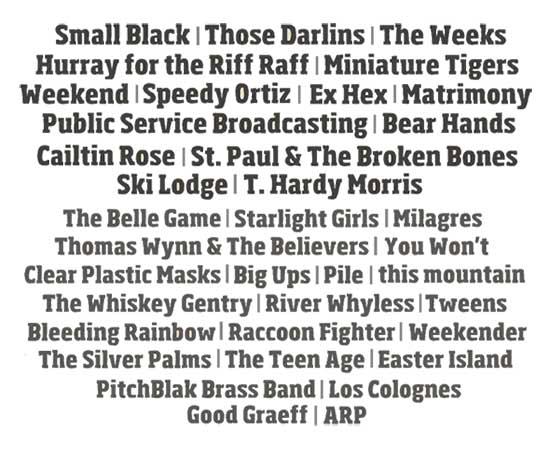 Savannah Stopover lineup 2014